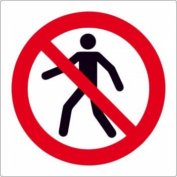 Verbotszeichen, Fußgänger verboten, kein Fußweg