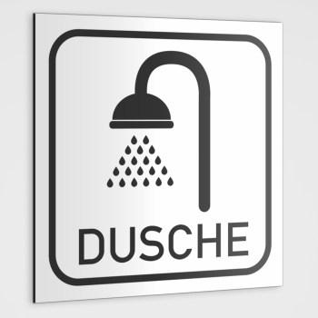 DUSCHE Hinweisschild, Dusche Piktogramm Aufkleber