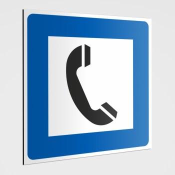 Piktogramm Hinweisschild Telefon -Hinweisaufkleber Telefon