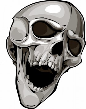 Autoaufkleber Totenkopf Skull