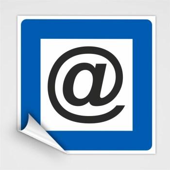 Piktogramm Internet Hinweisschild, Hinweisaufkleber Internet