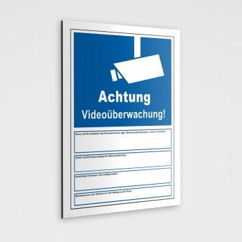 Videoüberwachung Schild nach Art.13 DSGVO Hinweispflichten der Datenschutzgrundverordnung