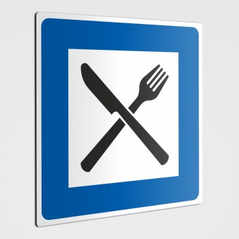 Restaurant Piktogramm Messer und Gabel Schild und Aufkleber