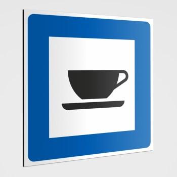 Piktogramm Hinweisschild! Getränke Cafe Schild, Hinweisaufkleber Cafe