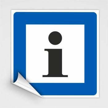 Piktogramm Hinweisschild, Informationen Schild, Hinweisaufkleber Informationen