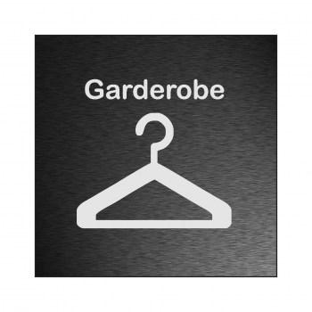 Hinweisschilder! Garderobenhaken Schild, Hinweisaufkleber Garderobenhaken