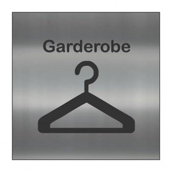 Hinweisschilder! Garderobenhaken Schild alu gebürstet, Hinweisaufkleber Garderobenhaken