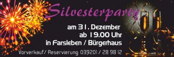 Werbebanner Silvesterparty
