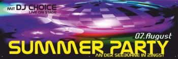 Veranstaltungsbanner Sommerparty Summerparty