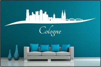 Wandtattoo Stadt Skyline Städteskyline Silhouette Köln Cologne