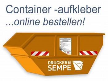 Container Aufkleber, mit stark haftenden Kleber!