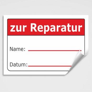 Aufkleber zur Reparatur