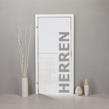 Schriftzug-Aufkleber HERREN Umkleide o. WC im Folienschnitt
