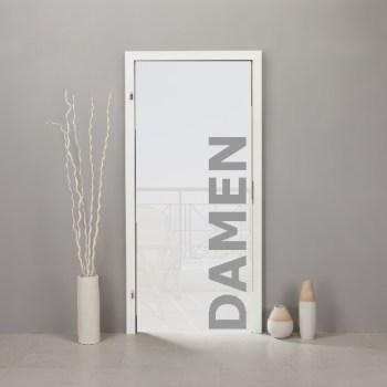 Schriftzug-Aufkleber DAMEN Umkleide o. WC im Folienschnitt