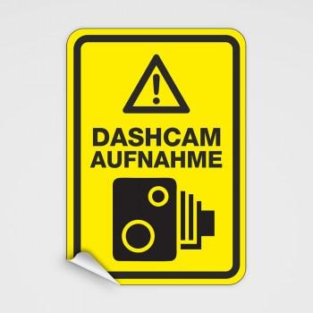DASHCAM Aufkleber - Achtung Aufnahme