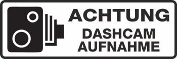 Autoaufkleber DASHCAM Hinweisaufkleber