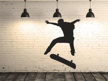 skater boy Aufkleber Wandaufkleber Tattoo
