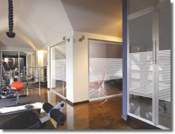 Fenster Dekorfolie WHITE LINES 18 mm