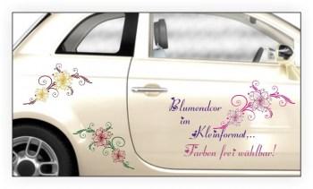 Autoaufkleber Blumenranke