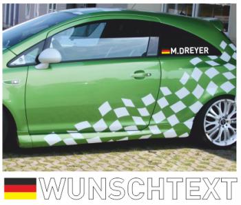 Deutschlandflagge mit Fahrernamen Aufkleber