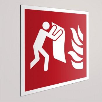 Feuer Beschilderung - Brandschutzzeichen Löschdecke KNS