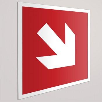 Feuerlöscher Richtungsweiser, Pfeil diagonale Schild - Feuerlöscher Beschilderung