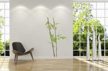 Wandtattoo Bambus, zweifarbig