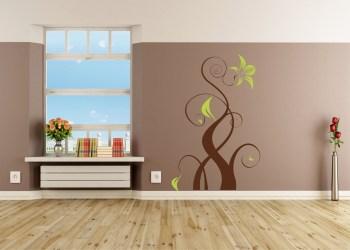 Wandtattoo für das Wohnzimmer zweifarbig