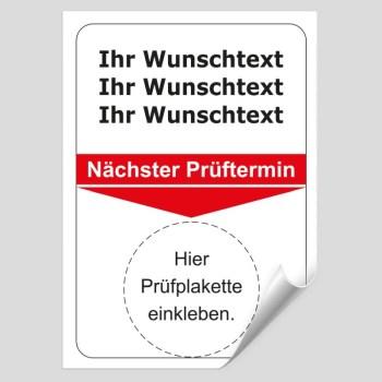 Grundplakette mit individueller Aufschrift