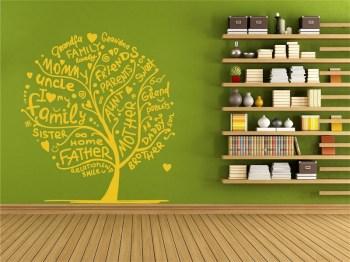 Wandtattoo Familien Baum
