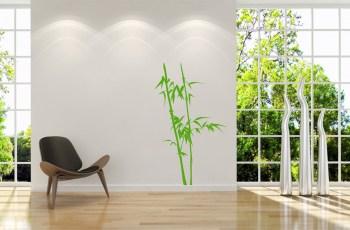 Wandtattoo Bambus einfarbig